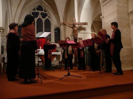 Le 9 décembre 2007 : Ensemble Vocal SCHERZANDO et chants communs avec l'Ensemble Vocal MUSILI